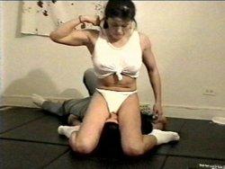 asia female asian wrestler